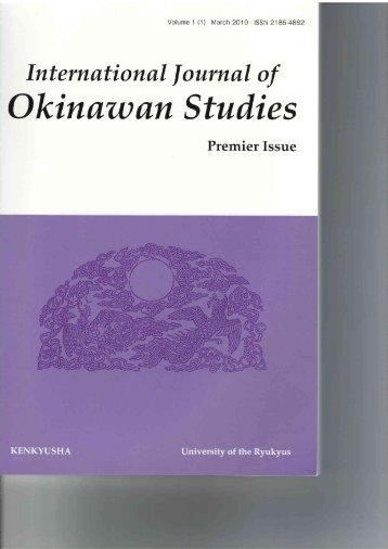Okinawan Studies - IAROS
