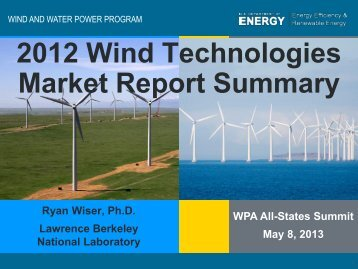 2012 Wind Technologies Market Report Summary - Wind Powering ...