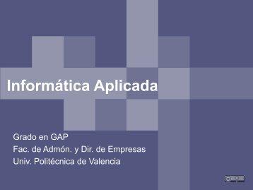 Informática Aplicada - PoliformaT - UPV