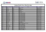 Kajakai Hydro Power Plant Drawings - Afghan