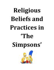 Religious Beliefs and Practices in The Simpsons - Stanwell School