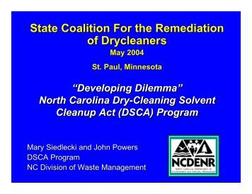 Attachment CC - State Coalition for Remediation of Drycleaners