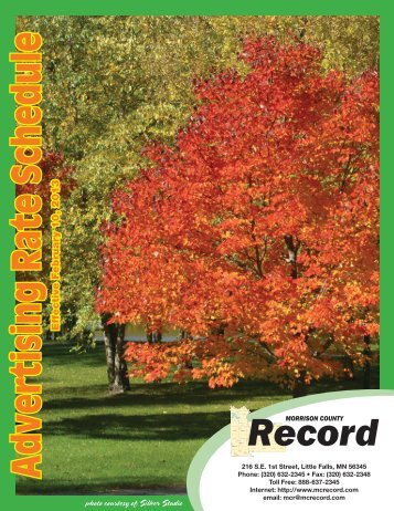 2013-rate-card-2 - The Morrison County Record
