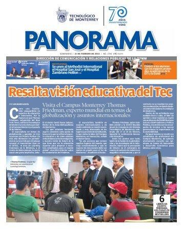 Resalta visión educativa del Tec - Campus Monterrey - Tecnológico ...