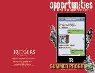 SUMMER PROGRAMS - LEAP Academy University Charter School