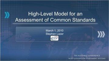 High-Level Model for an Assessment of Common Standards