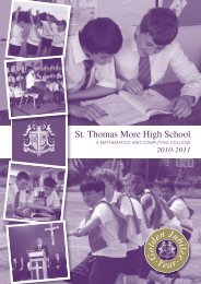 the sixth form - St Thomas More High School