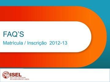 FAQ'S - ISEL