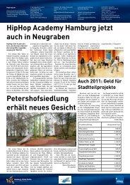 HipHop Academy Hamburg jetzt auch in Neugraben ...