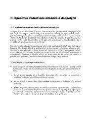 II. Specifika vzdělávání mládeže a dospělých - eAMOS