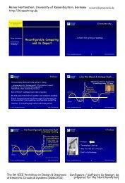 Coarse Grain Reconfigurable Architectures - Xputer Lab Configware ...