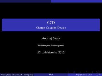 CCD - Charge Coupled Device - Uniwersytet Zielonogórski