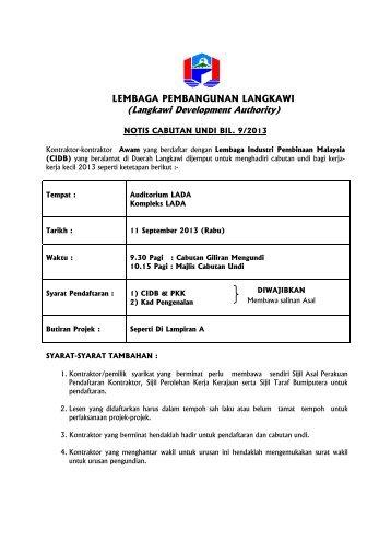 (Langkawi Development Authority) - Lembaga Pembangunan ...
