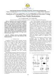 Analysis of Cascaded Five Level Multilevel Inverter Using ... - IJETAE