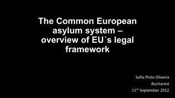The Common European asylum system – overview of EU´s ... - EJTN