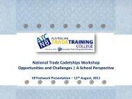 National Trade Cadetship - VETnetwork Australia