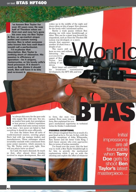 Airgun World BTAS - Ben Taylor & Son