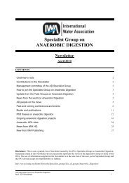 Specialist Group on ANAEROBIC DIGESTION Newsletter - IWA