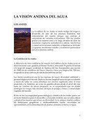 LA VISIÓN ANDINA DEL AGUA - Condesan