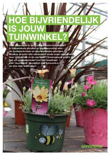 RAPPORT Hoe bij vriendelijk is jouw tuinwinkel