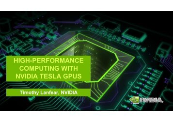 HIGH-PERFORMANCE COMPUTING WITH NVIDIA TESLA GPUS