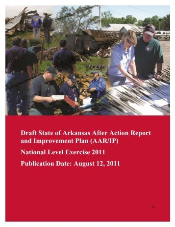 Draft State of Arkansas After Action Report and Improvement Plan ...