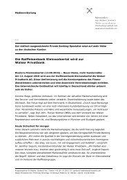 Die Raiffeisenbank Kleinwalsertal wird zur Walser Privatbank