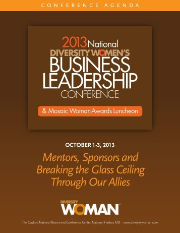 to Download Conference Information - Diversity Woman