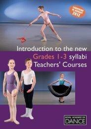 Grade 1-3 teachers course booklet - Royal Academy of Dance