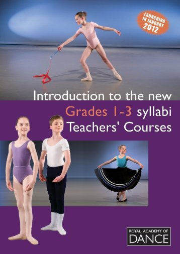 Grade 1-3 teachers course booklet - Royal Academy of Dance