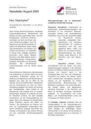 Newsletter August 2009 - Steierl-Pharma GmbH