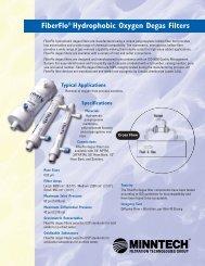 FiberFlo Hydrophobic Oxygen Degas Filters - Liquidyne
