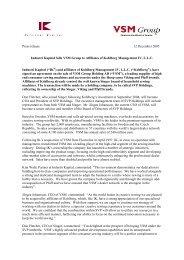 Industri Kapital Sells VSM Group To Affiliates Of