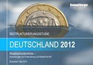 Restrukturierungsstudie - Deutschland 2012 - Roland Berger