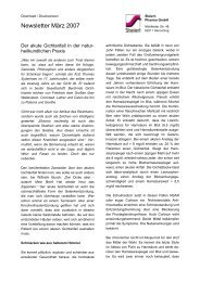 Newsletter März 2007 - Steierl-Pharma GmbH
