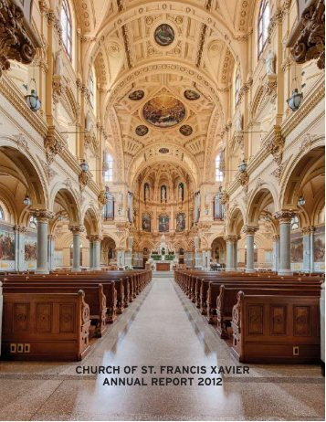 CHURCH OF ST. FRANCIS XAVIER ANNUAL REPORT 2012