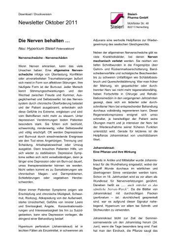 Die Nerven behalten ... - Steierl-Pharma GmbH
