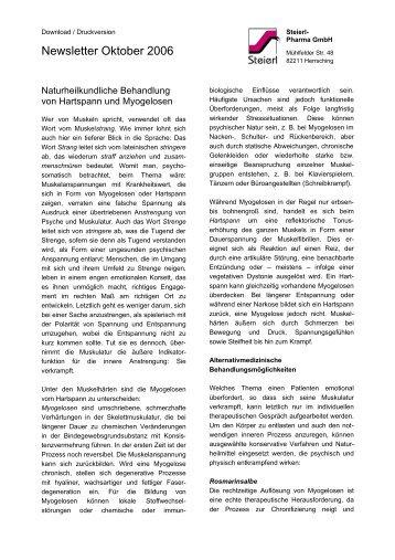 Newsletter Oktober 2006 - Steierl-Pharma GmbH