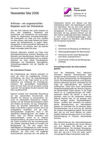 Newsletter Mai 2006 - Steierl-Pharma GmbH