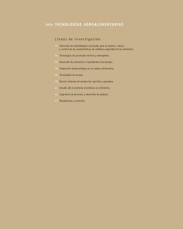 Área: Tecnologías Agroalimentarias - Madri+d