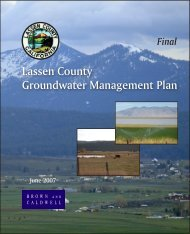 Lassen County Groundwater Management Plan