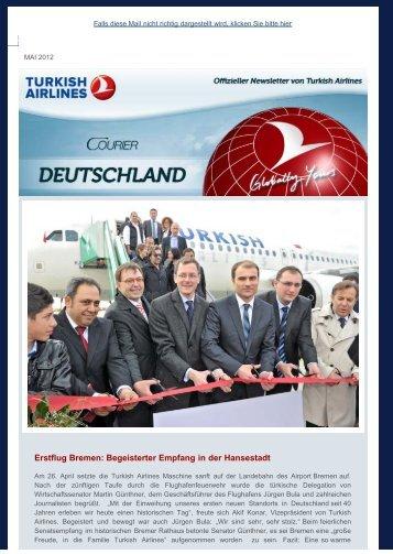 Erstflug Bremen: Begeisterter Empfang in der ... - Turkish Airlines