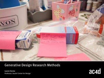 Generative Design Research Methods - AC4D Design Library ...
