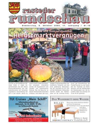 rasteder rundschau, Ausgabe Oktober 2009