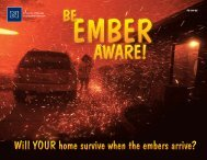 Be Ember Aware! - University of Nevada Cooperative Extension