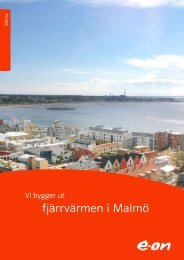 fjärrvärmen i Malmö - E-on