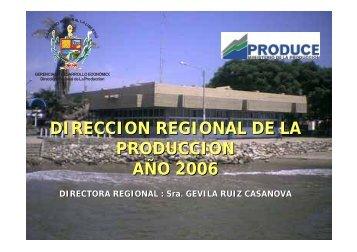 direccion regional de la produccion año 2006 - Gobierno Regional ...