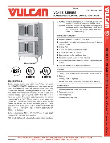 Double Deck Electric Ovens - Mobile Kitchen Solutions