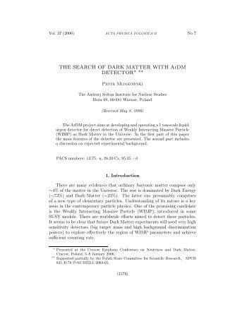 Paper - Acta Physica Polonica B