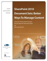 Better Ways To Manage Content - ASPE